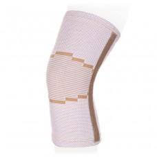 Эластичный бандаж на коленный сустав с ребрами жесткости KS-E02