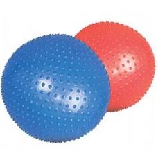 Мяч гимнастический для фитнеса игольчатый с шипами в коробке с насосом