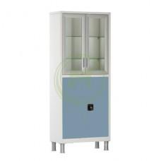 Шкаф медицинский в цветном исполнении Р-ШМС647 1750х700х320 мм.