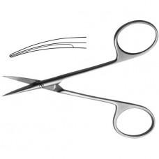 Ножницы глазные остроконечные вертикально изогнутые с изогнутой ручкой 115 мм