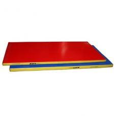 Мат гимнастический гп50-11 (1*2*0,06м) трехцветный