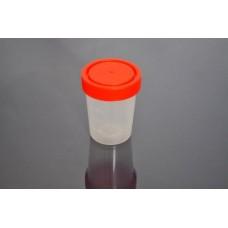 Контейнер 150 мл (градуировка до 100 мл) с винтовой крышкой для сбора биоматериалов