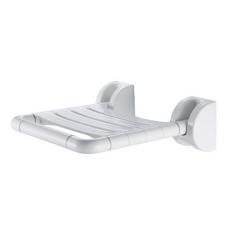 Откидной стульчик для ванной с креплением на стену арт. 5W011 с антибактериальным противоскользящим покрытием