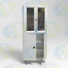 Шкаф медицинский 2х створчатый с ригельным замком Р-ШМС647 1750х700х320 мм.